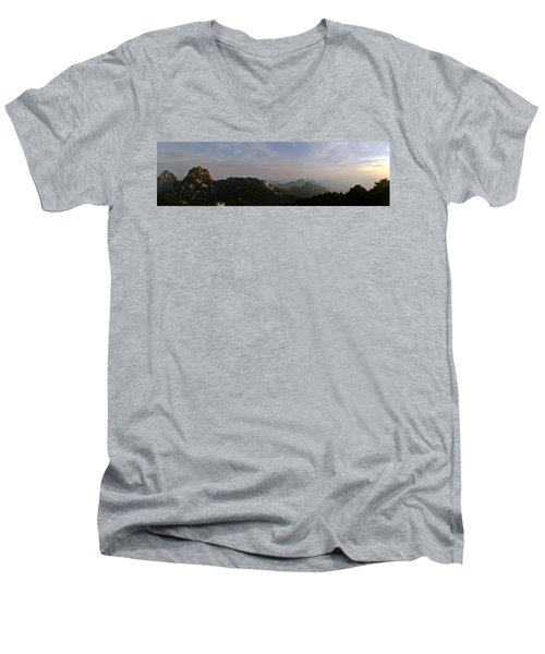 Huangshan Panorama 5 Men's V-Neck T-Shirt
