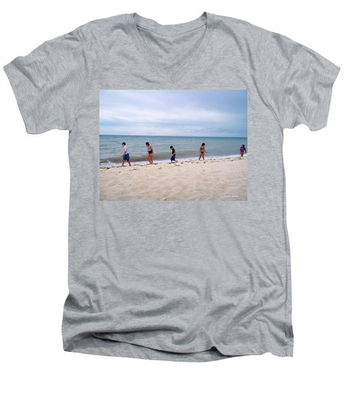 Men's V-Neck T-Shirt featuring the photograph Hurry Up  by Cynthia Amaral