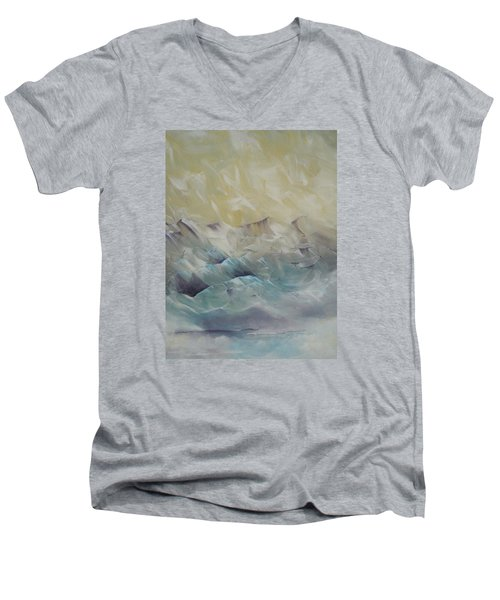 I Like It When It's Cold  Men's V-Neck T-Shirt by Dan Whittemore