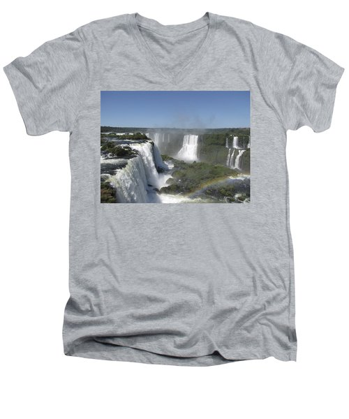 Men's V-Neck T-Shirt featuring the photograph Iguazu Falls by David Gleeson