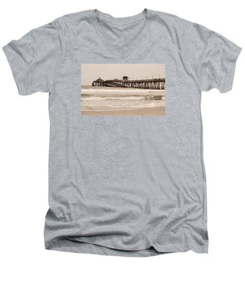 Men's V-Neck T-Shirt featuring the photograph Imperial Beach by Rima Biswas