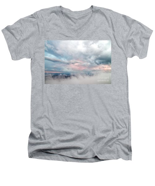 In The Clouds Men's V-Neck T-Shirt by Jeannette Hunt