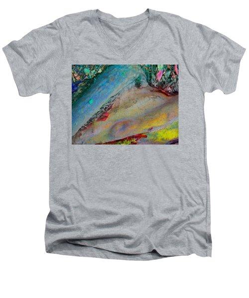 Men's V-Neck T-Shirt featuring the digital art Inner Peace by Richard Laeton