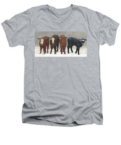 Inquisitive Calves Men's V-Neck T-Shirt