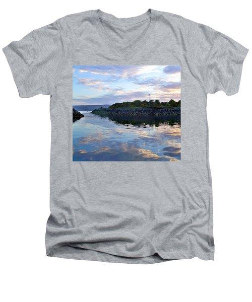 Men's V-Neck T-Shirt featuring the photograph Inverkip Marina by Lynn Bolt