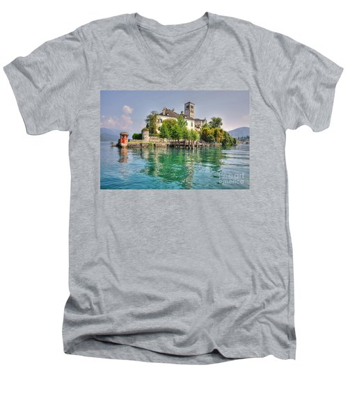 Island San Giulio Men's V-Neck T-Shirt