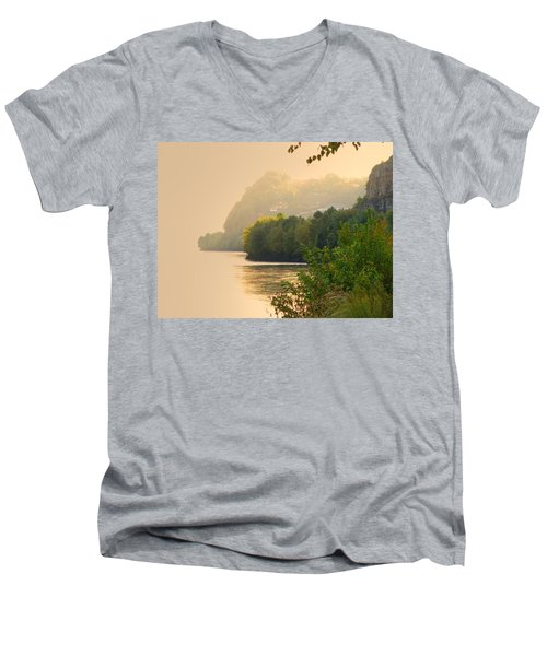 Men's V-Neck T-Shirt featuring the digital art Islands In The Stream II by William Fields