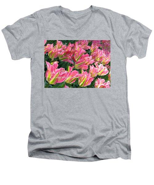 Men's V-Neck T-Shirt featuring the photograph It's A Girl. Congratulations by Ausra Huntington nee Paulauskaite