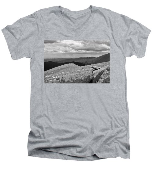 Men's V-Neck T-Shirt featuring the photograph It's Raining In The Distance by David Pantuso