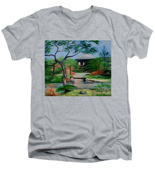Jardin Japonais  Men's V-Neck T-Shirt