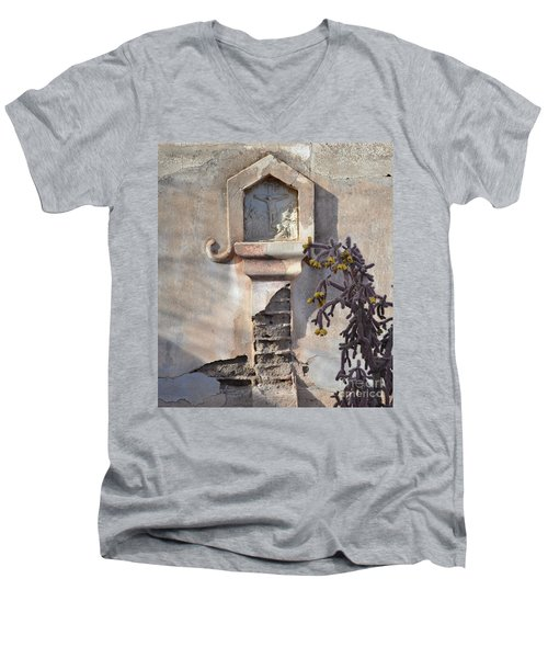 Men's V-Neck T-Shirt featuring the photograph Jesus Image by Rebecca Margraf