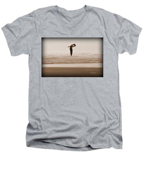 Jonathon Men's V-Neck T-Shirt by Jeanette C Landstrom