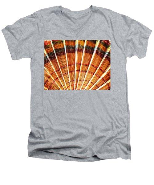 Jute Hand Fan Men's V-Neck T-Shirt