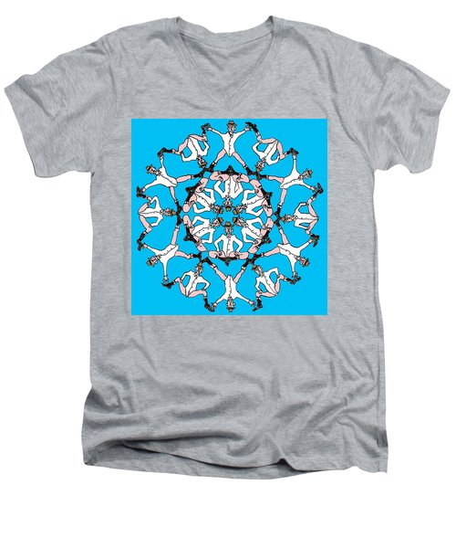 Men's V-Neck T-Shirt featuring the drawing Kaleidoscoot by R  Allen Swezey