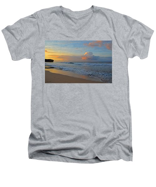 Kauai Morning Light Men's V-Neck T-Shirt