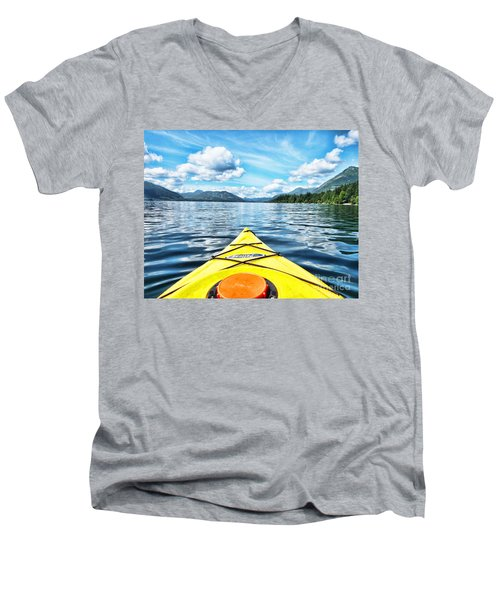 Kayaking In Bc Men's V-Neck T-Shirt