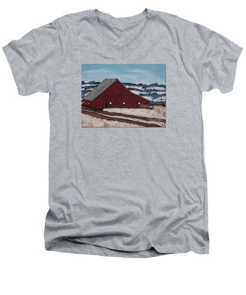 Keystone Farm Men's V-Neck T-Shirt by Jeffrey Koss