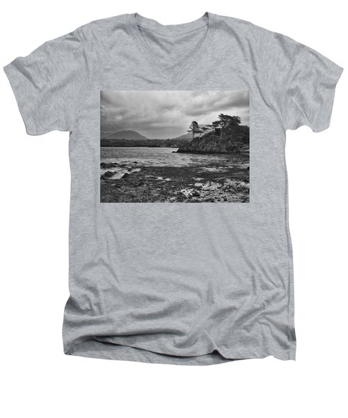 Men's V-Neck T-Shirt featuring the photograph Killarney Lake by Hugh Smith