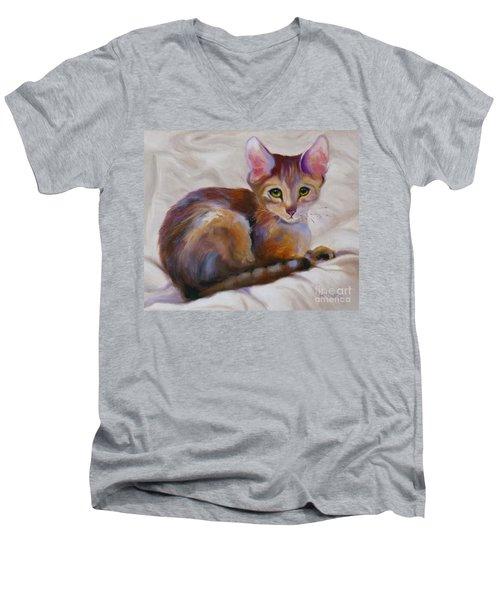 Kitten Princess Men's V-Neck T-Shirt