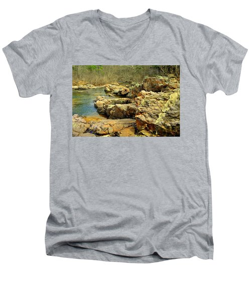 Men's V-Neck T-Shirt featuring the photograph Klepzig Shut In by Marty Koch
