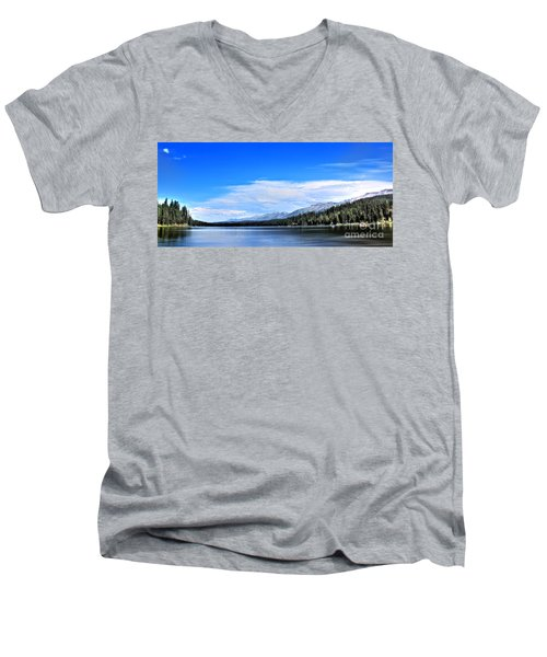 Men's V-Neck T-Shirt featuring the photograph Lake Alva by Janie Johnson