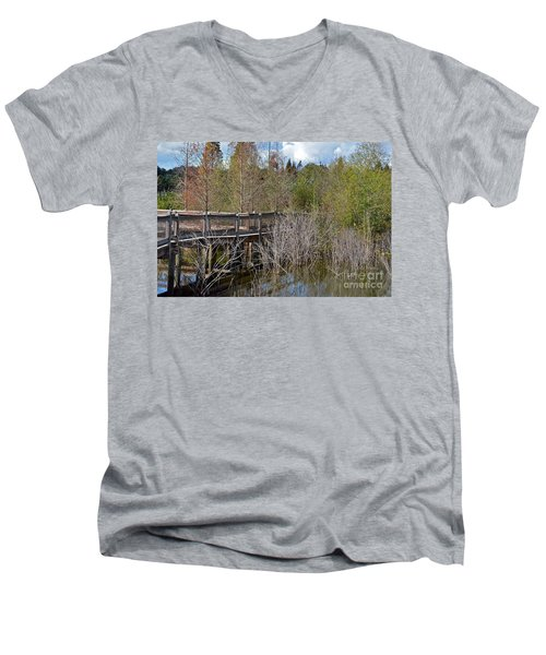Lake Bonny Boardwalk Men's V-Neck T-Shirt