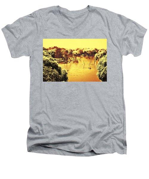 Lake In India Men's V-Neck T-Shirt