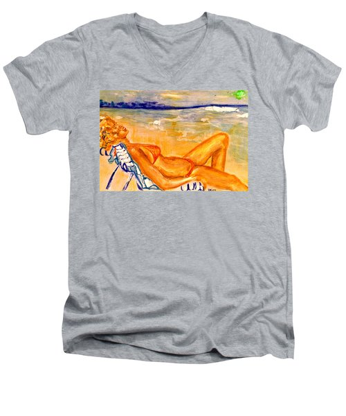 Summertime Men's V-Neck T-Shirt