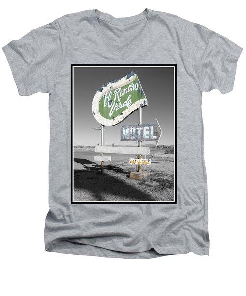Last Chance Motel Men's V-Neck T-Shirt