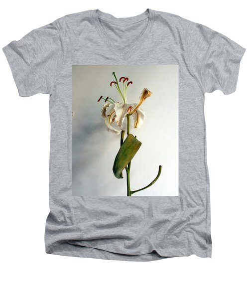Men's V-Neck T-Shirt featuring the photograph Last Moments by Pravine Chester