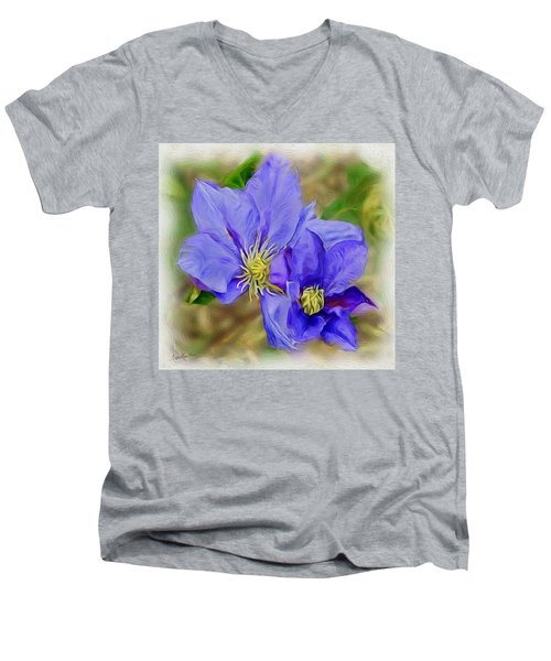 Lavendar Blue Men's V-Neck T-Shirt