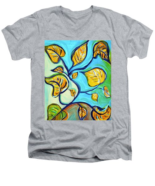 Leaves Of Hope Men's V-Neck T-Shirt