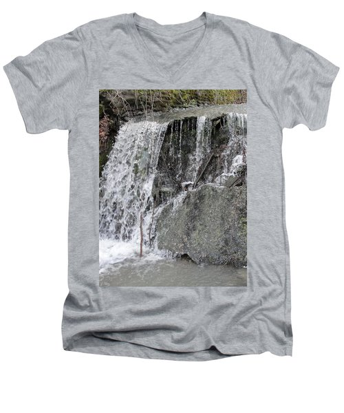 Men's V-Neck T-Shirt featuring the photograph Let It Flow by Tiffany Erdman