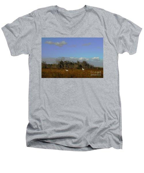 Lifes Field Of Dreams Men's V-Neck T-Shirt