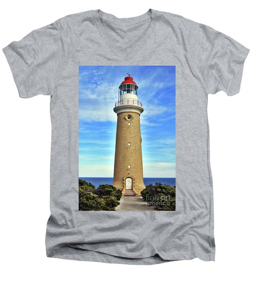 Light House At Cape Du Couedic Men's V-Neck T-Shirt