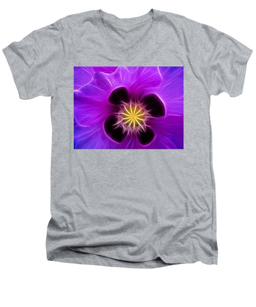 Lilac Poppy Men's V-Neck T-Shirt