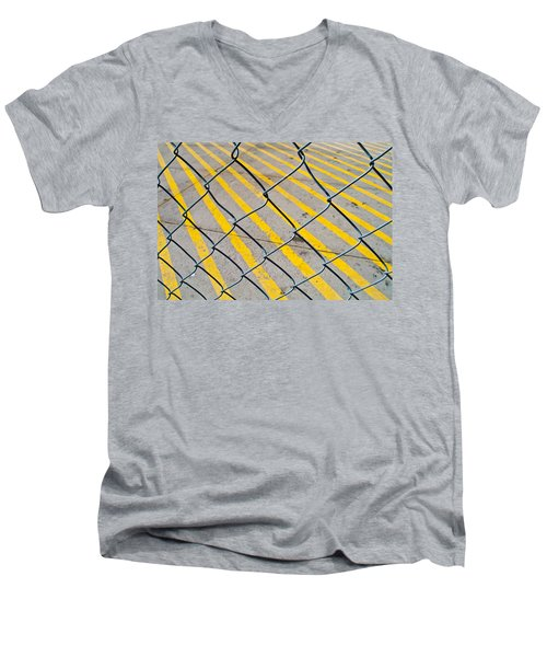 Men's V-Neck T-Shirt featuring the photograph Lines by David Pantuso