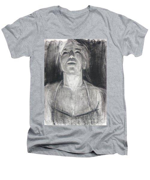 Lit Men's V-Neck T-Shirt