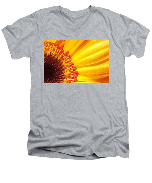 Men's V-Neck T-Shirt featuring the photograph Little Bit Of Sunshine by Eunice Gibb