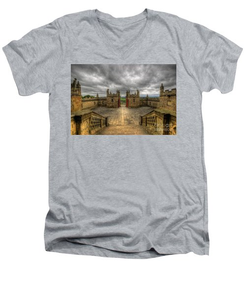 Little Castle Entrance - Bolsover Castle Men's V-Neck T-Shirt