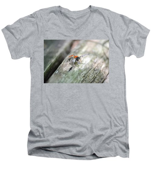 Men's V-Neck T-Shirt featuring the photograph Little Jumper by JD Grimes
