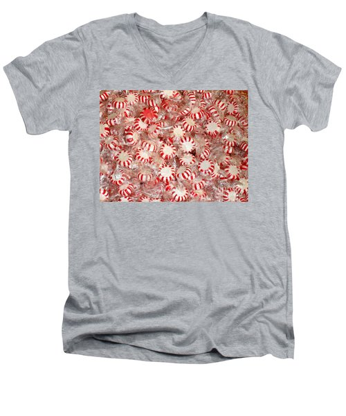 Fun  Mints Men's V-Neck T-Shirt by Beth Saffer