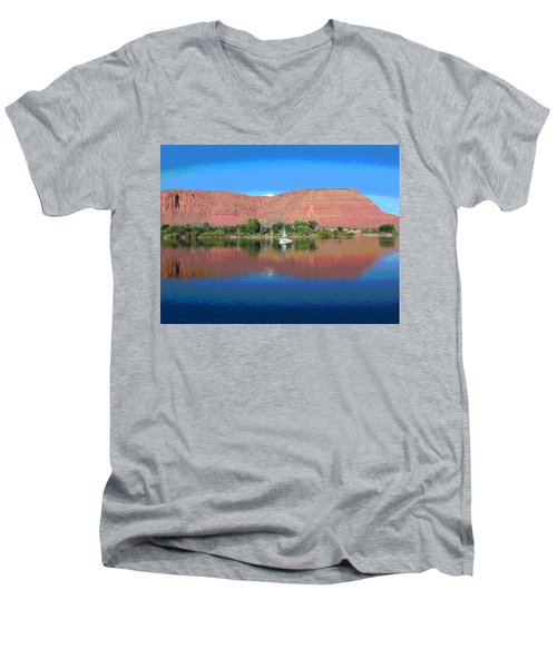 Reflections Of Ivins, Ut Men's V-Neck T-Shirt