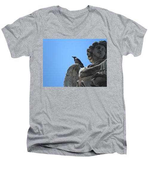 Men's V-Neck T-Shirt featuring the photograph Lookout by Laurel Best