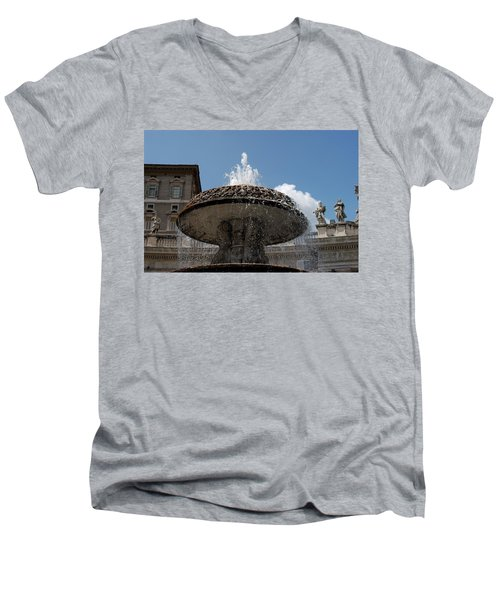 Maderno's Fountain Men's V-Neck T-Shirt