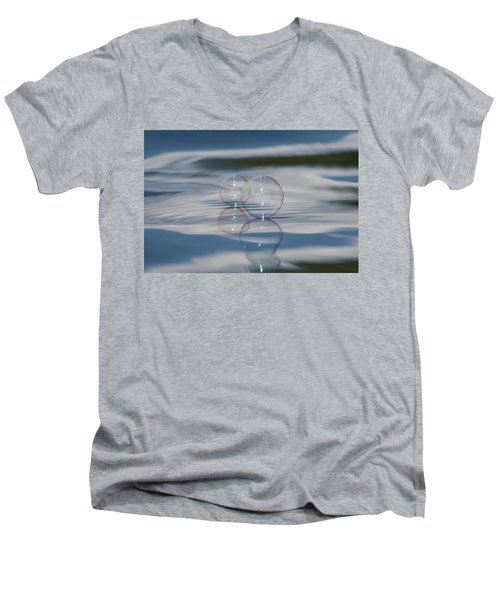 Men's V-Neck T-Shirt featuring the photograph Magic On The Water by Cathie Douglas