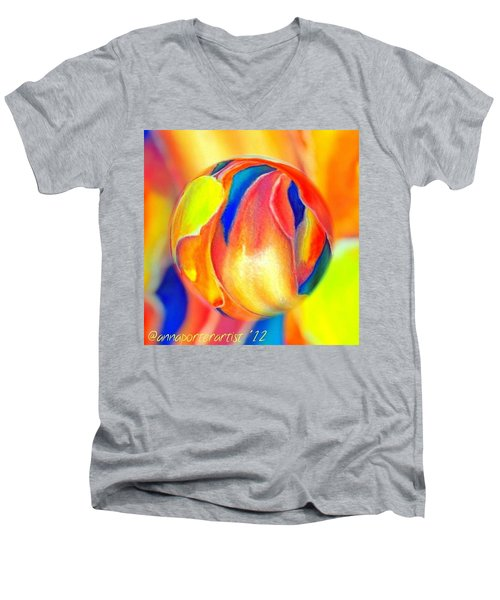 Magnolia Marble Men's V-Neck T-Shirt