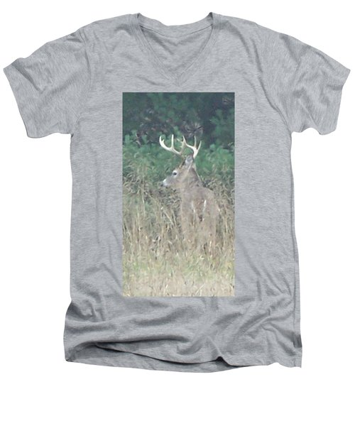 Majestic Buck Men's V-Neck T-Shirt