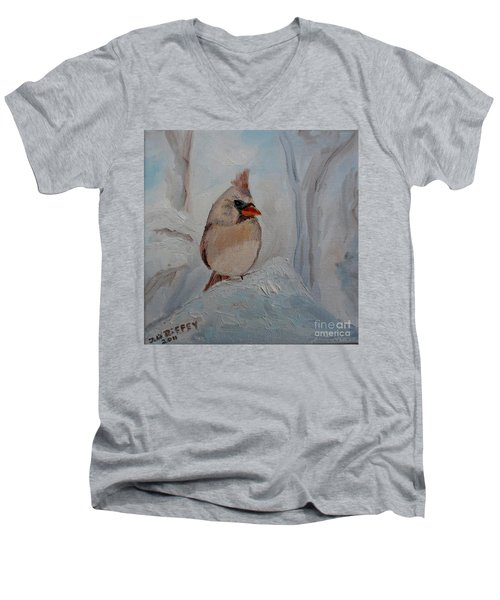 Men's V-Neck T-Shirt featuring the painting Mama's On Her Way Home by Julie Brugh Riffey