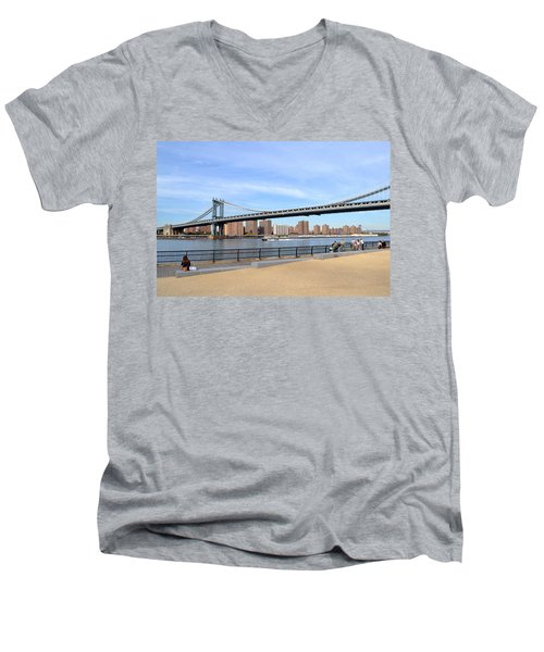 Manhattan Bridge1 Men's V-Neck T-Shirt